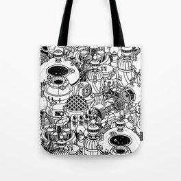 Dark Matter Space Machine Tote Bag