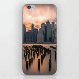New york city long exposure iPhone Skin