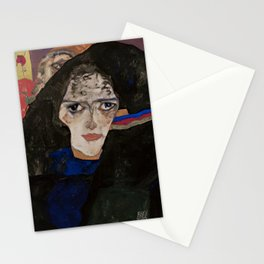Egon Schiele - Mourning Woman Stationery Cards