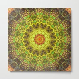 Dimensional Transition Mandala Metal Print