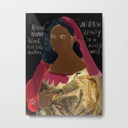 Black Culture Matters African Art Metal Print