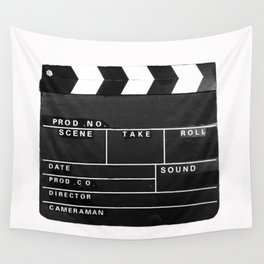 Film Movie Video production Clapper board Wall Tapestry