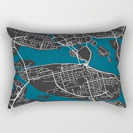Stockholm city map black colour Rectangular Pillow
