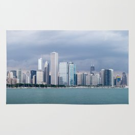 Chicago Skyline Pictures from Michigan Lake Rug