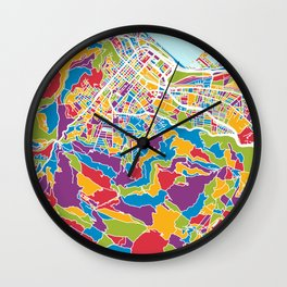 Cape Town South Africa City Street Map Wall Clock