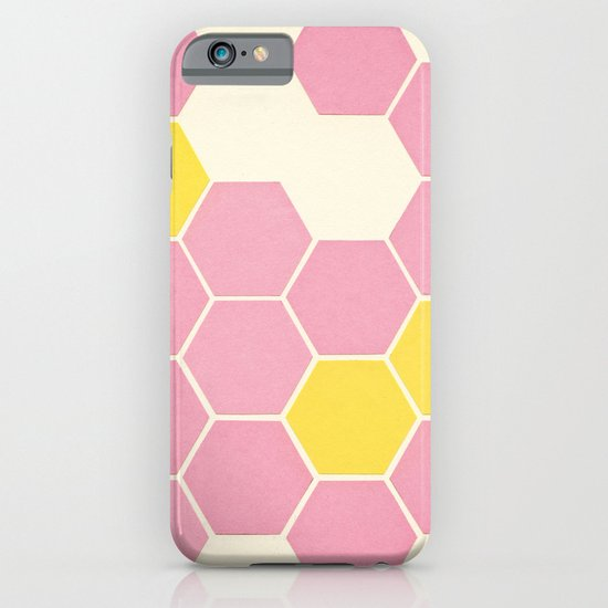 Pink Honeycomb iPhone & iPod Case