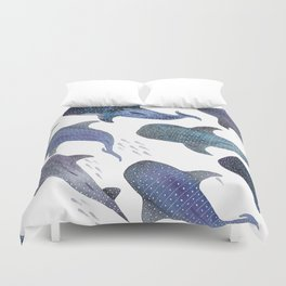 e8dbb8e9f9f0 Whale Shark Pattern Party Duvet Cover