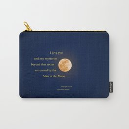 """January Blue Moon"" with poem: Any Mysteries Carry-All Pouch"