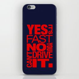 Yes it's fast No you can't drive it v5 HQvector iPhone Skin