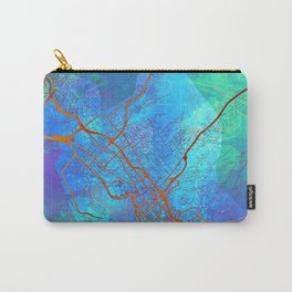 Honolulu Hawaii Street Map Color Carry-All Pouch