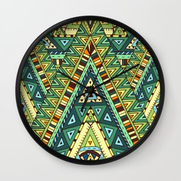 Native ornament pattern Wall Clock