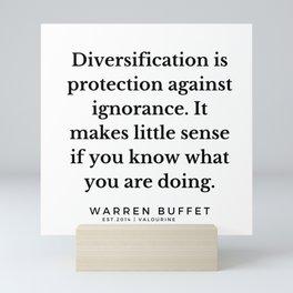 36     Warren Buffett Quotes   190823 Mini Art Print