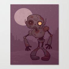 Rusty Zombie Robot Canvas Print