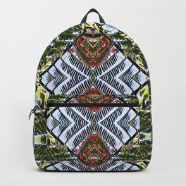 Royal Poinciana Fronds Diamond OP Pattern Backpack