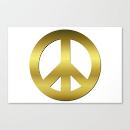Golden CND Peace Symbol Canvas Print