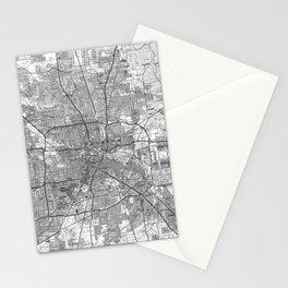 Houston Texas Map (1992) BW Stationery Cards