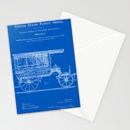 Ambulance Patent 1889 - Blueprint Stationery Cards