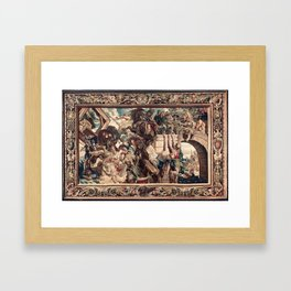 Triumph of Constantine over Maxentius at the Battle of the Milvian Bridge Framed Art Print