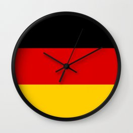 German flag - High Quality version both in scale and color Wall Clock