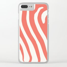Animal Print in Living Coral Clear iPhone Case