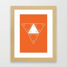 Orange Unrolled D4 Framed Art Print