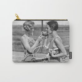 Tennis Players, Black and White Art, Vintage Wall Art Carry-All Pouch