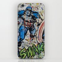 kirby iPhone & iPod Skins featuring Kirby by RIOTCOLORS