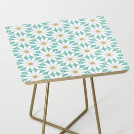 Daisy Hex - Turquoise Side Table