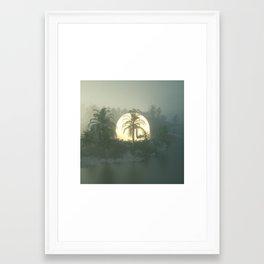 Hidden Sunset Framed Art Print
