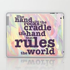 The Hand that Rocks the Cradle... Laptop & iPad Skin