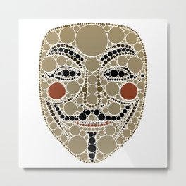 Anonymous Vendetta Guy Fawkes Mask Metal Print