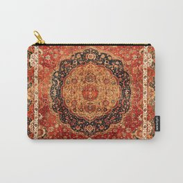 Seley 16th Century Antique Persian Carpet Print Carry-All Pouch