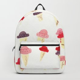 Pink, Purple, and Magenta Ice Cream Cones Backpack