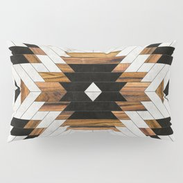 Urban Tribal Pattern 5 - Aztec - Concrete and Wood Pillow Sham