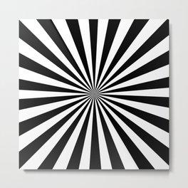 Starburst (Black & White Pattern) Metal Print