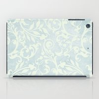 shabby chic iPad Cases featuring Shabby Chic Damask by Miriam Hahn
