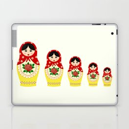 Red russian matryoshka nesting dolls Laptop & iPad Skin