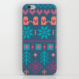 Fair Isle Christmas iPhone Skin