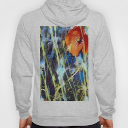Abstract Poppies Hoody