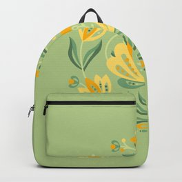 Nordic Green Rose Backpack