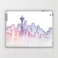 Seattle Skyline Watercolor Laptop & iPad Skin