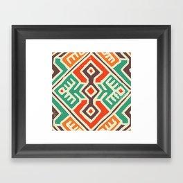 Ancient totem pattern Framed Art Print