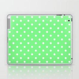Apple Green with White Polka Dots Laptop & iPad Skin
