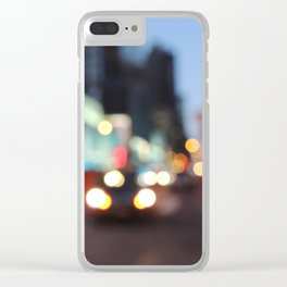 New York City Blur Clear iPhone Case