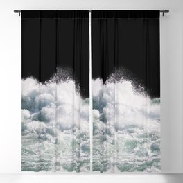 Water Photography | Wild Rapids | Waves | Ocean | Sea Minimalism Blackout Curtain