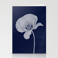 blueprint Stationery Cards featuring Poppy Blueprint by I Am Kimberley Ann