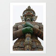 Guard at the Grand Palace in Bangkok, Thailand Art Print
