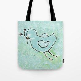 aqua bird Tote Bag
