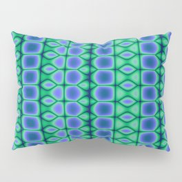 Blue and Green Pattern Stripes Pillow Sham
