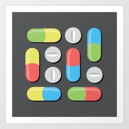 Pills and capsules Art Print